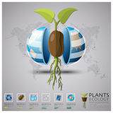Worldwide Plant Ecology And Environment Infographic Stock Image
