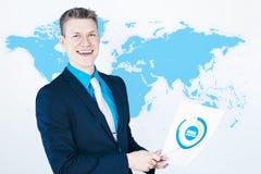 Worldwide sales report Stock Photo