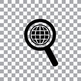 Worldwide searching around the world Royalty Free Stock Photography