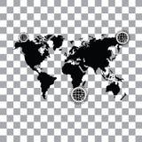 Worldwide searching around the world Stock Photos