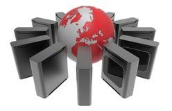 Worldwide servers concept Stock Photo