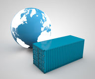Worldwide shipping Stock Image
