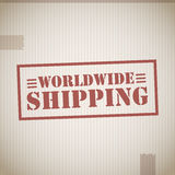 Worldwide shipping Royalty Free Stock Photography