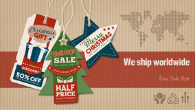 Worldwide shipping banner Royalty Free Stock Photo
