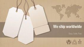 Worldwide shipping banner Stock Photo