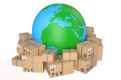 Worldwide shipping concept Stock Photos