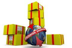 Worldwide shipping. Concept Stock Image