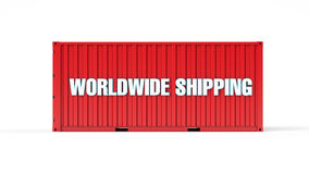 Worldwide shipping container Stock Photo