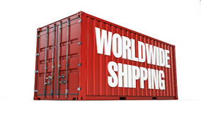 Worldwide shipping container Royalty Free Stock Image