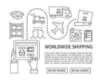 Worldwide shipping and delivery, online shopping Royalty Free Stock Photography