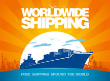 Worldwide shipping design. Stock Photo
