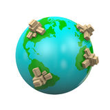 Worldwide Shipping Illustration Royalty Free Stock Image