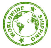 Worldwide Shipping Represents Globalize Globally And Globalisation. Worldwide Shipping Indicating Postage Globally And Globalization royalty free illustration