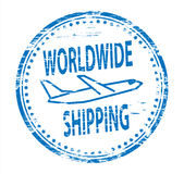 Worldwide Shipping Rubber Stamp. Rubber Stamp illustration showing Worldwide Shipping text Royalty Free Stock Photography