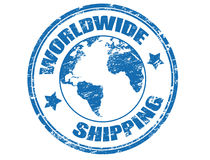 Worldwide Shipping stamp Stock Images