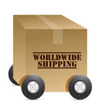 Worldwide shipping web shop Royalty Free Stock Photo