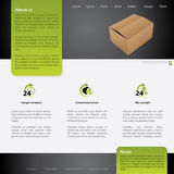 Worldwide shipping website template design Royalty Free Stock Photos