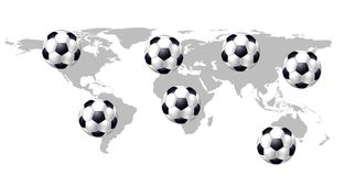 Worldwide Soccer Royalty Free Stock Photos