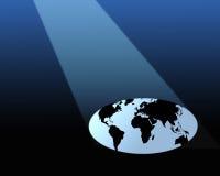 Worldwide spotlight Royalty Free Stock Photos