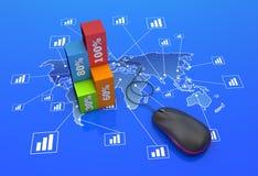 Worldwide statistics Royalty Free Stock Images