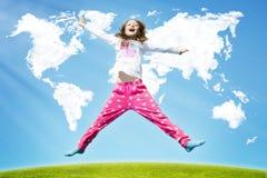 Worldwide Success Girl stock photos