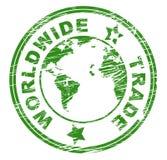 Worldwide Trade Indicates Import E-Commerce And Globalise Stock Images