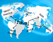 Worldwide Travel Represents Traveller Globally And Journey. Worldwide Travel Meaning Touring Globalization And Globally Stock Photo
