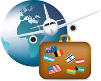 Worldwide travel symbol Stock Images