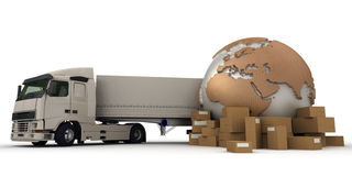 Worldwide truck transportation Stock Photography