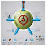 Worldwide Water Pipeline Ecology And Environment Infographic Stock Photos