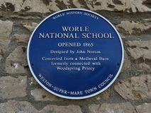 Worle Nationale School royalty-vrije stock fotografie