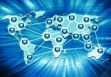 Worlwide Computer Network Royalty Free Stock Photo