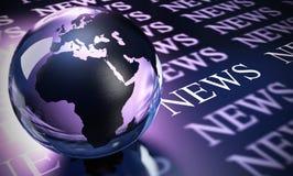 Worlwide Nachrichten Lizenzfreie Stockbilder