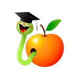 Worm and apple. Stock Images