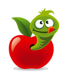 Worm in apple Royalty Free Stock Images