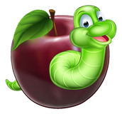Worm and Apple Royalty Free Stock Photos