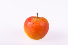 Worm on an apple  Royalty Free Stock Image