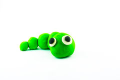 Worm ,clay on white background Stock Image