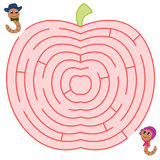The worm couple maze stock images