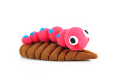 Worm Craft. Toy isolated on white Royalty Free Stock Photography