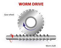 Worm drive or Torsen differential Stock Photos