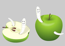 Worm-eaten apple Royalty Free Stock Image