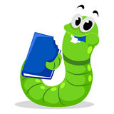 Worm eating Book Royalty Free Stock Image