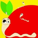 Worm en appel Royalty-vrije Stock Afbeelding