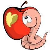 Worm en hart Stock Fotografie