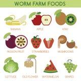 Worm farm foods  Stock Photo