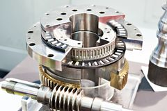 Worm gear and bearings royalty free stock photos