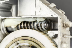 Worm gear , shown up close Royalty Free Stock Photos