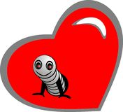 Worm in Heart Stock Images