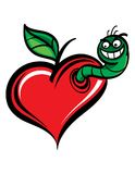Worm in Heart Stock Photography